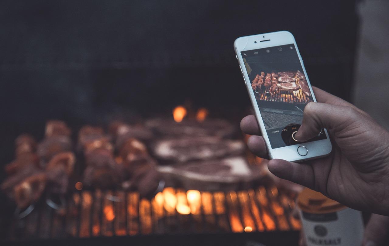 Smartphone, cooking