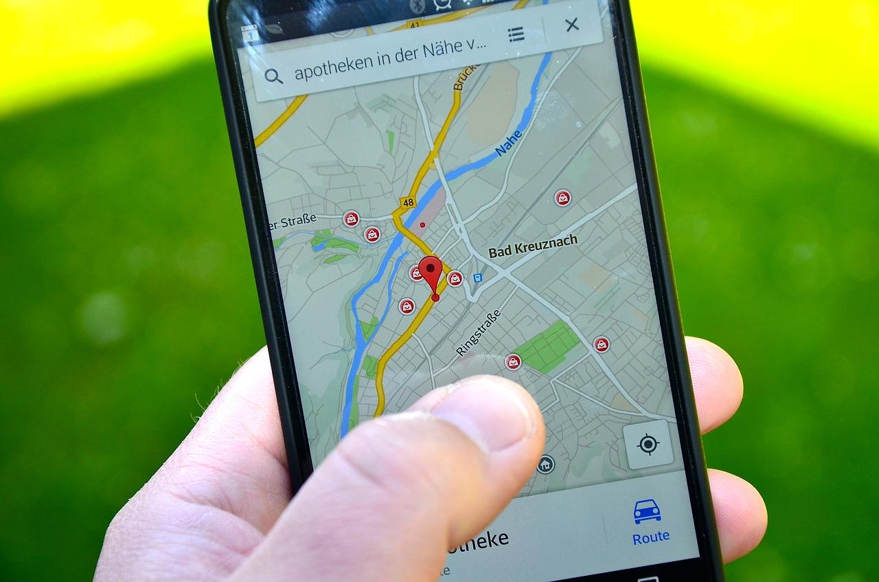 maps, smartphone