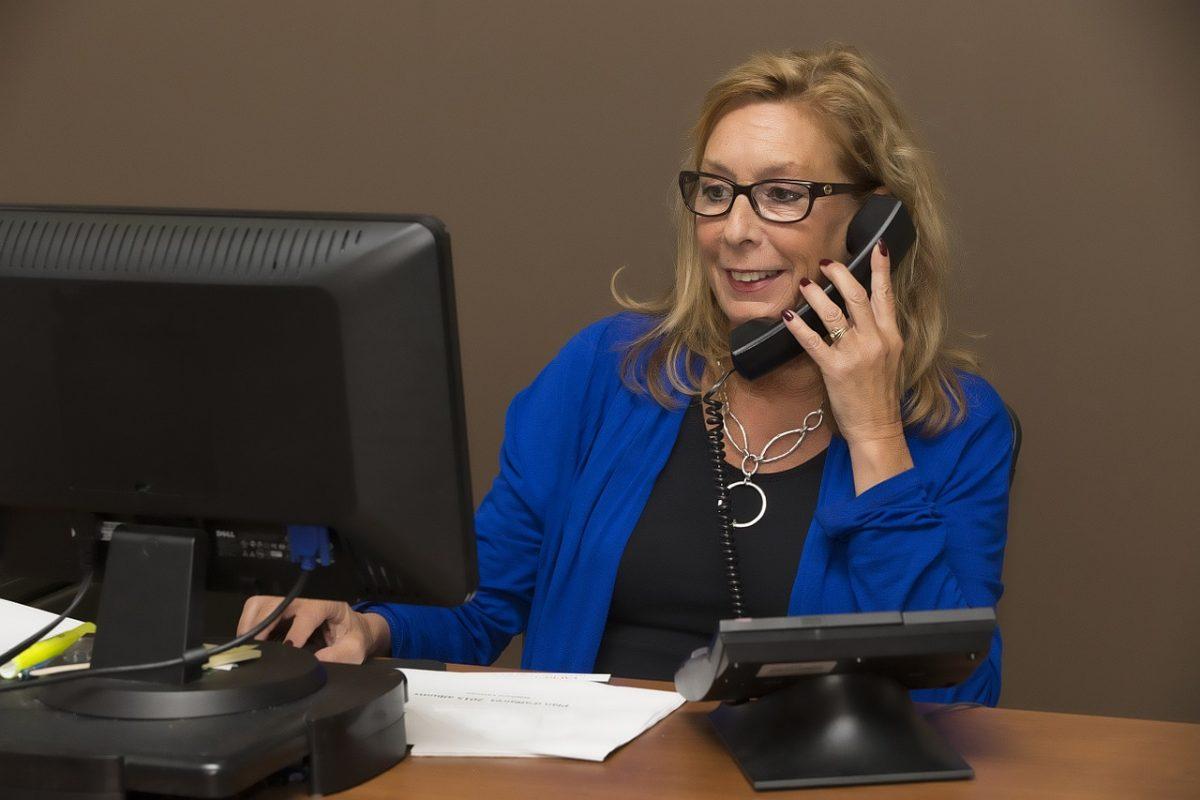 secretary phone call
