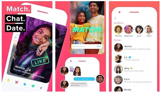 Tinder app screenshot