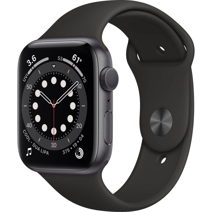 Apple Watch Series 6 Space Grey with Black Sport Band