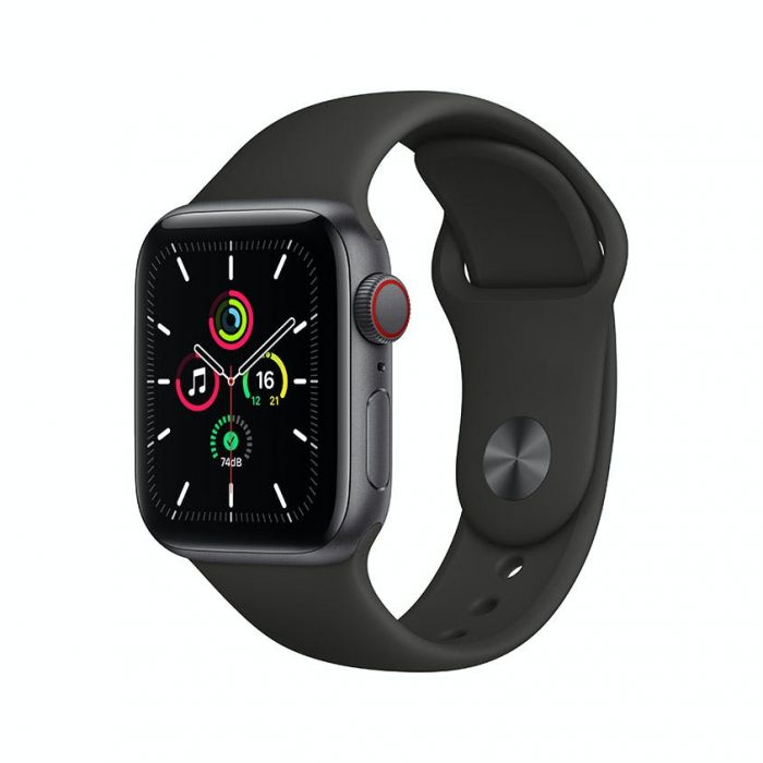 Apple Watch SE 44mm Space Grey Smartwatch with Black Sport Band