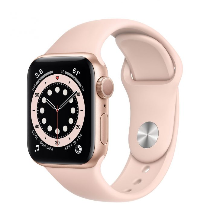 Apple Watch Series 6 Gold Smartwatch Pink Sand Sport Band